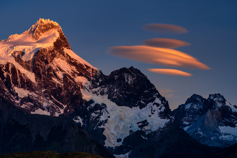 Lenticular Clouds and Paine Grande