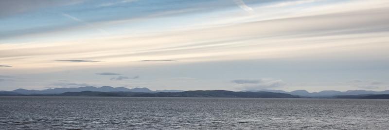 Lake District fells over Morecambe Bay