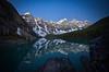 Nighttime at Moraine Lake, Banff National Park, Canada.