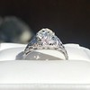 1.11ct Old European Cut Diamond Filigree Ring 18