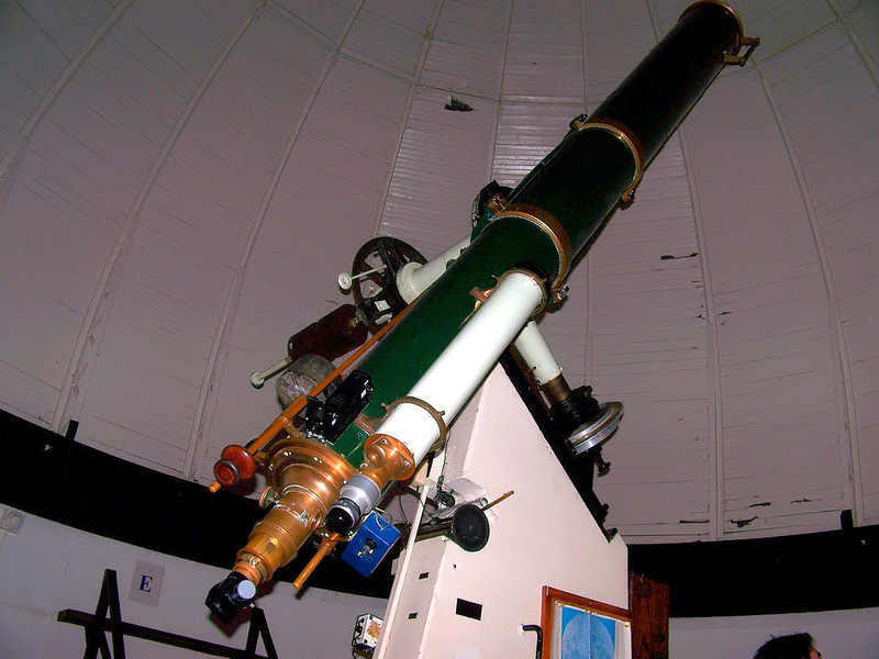 The 13 inch Fitz-Clark refractor telescope. The instrument was made by Henry Fritz of New York.  First light for the Fitz Refractor was November 27, 1861. Making this one of the oldest operating telescopes in the country. This instrument is an F-14. Later the objective lens was refigured by Alvan Clark to repair a damanaged element and hence the name became known as - the Fitz-Clark Telescope.