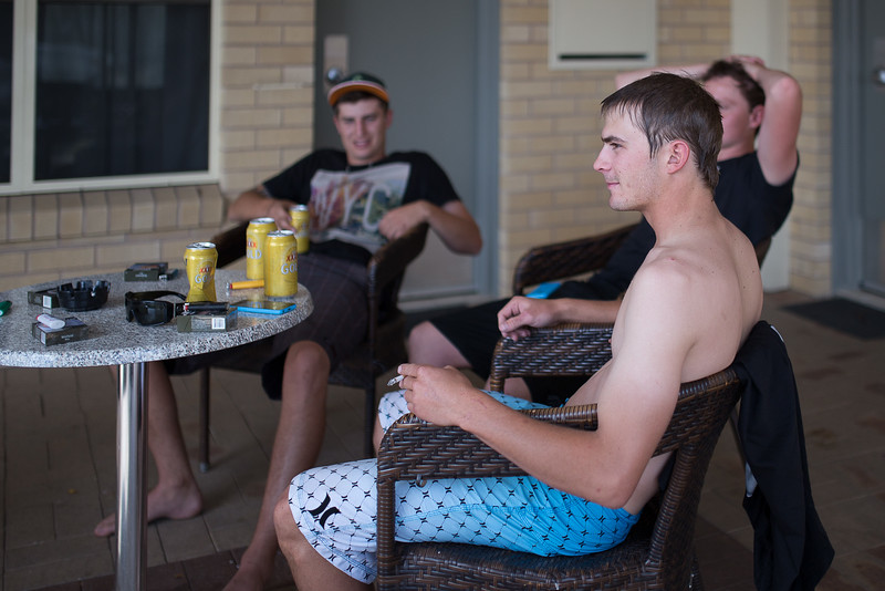 The lads cooling off.