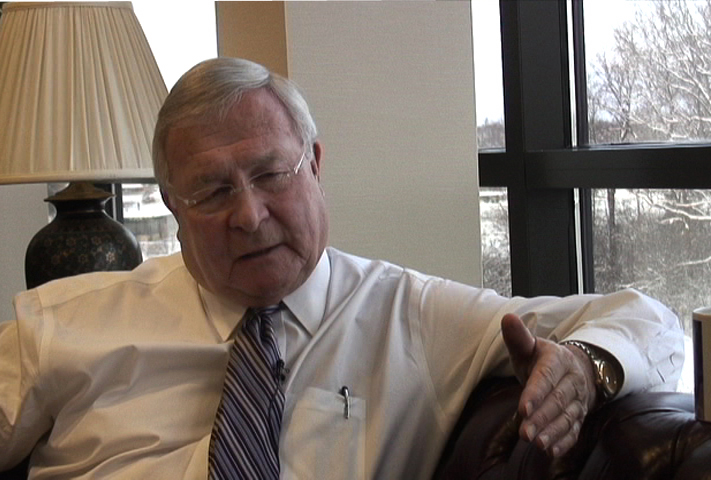 Description of . Oakland County Executive L. Brooks Patterson discusses John Cherry droping out of the Michigan governors race, and what it means for the GOP. The Oakland Press/DOUG BAUMAN