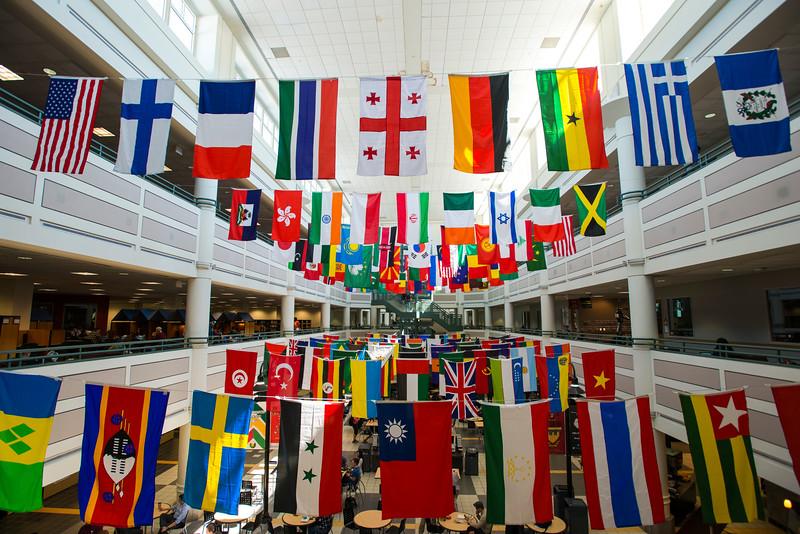 International Week flags