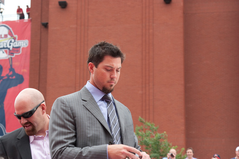 "Josh Beckett, Red Sox, 2009 MLB All Star Game ""Red Carpet Show"", St. Louis, MO"