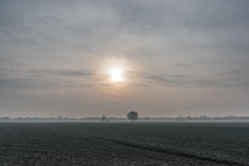 Sunrise - Nonantola, Modena, Italy - January 9, 2015