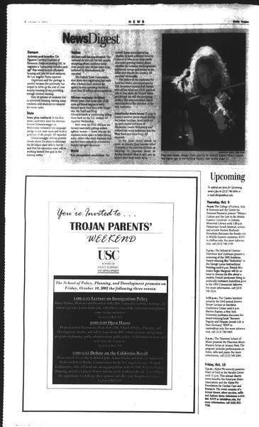 Daily Trojan, Vol. 150, No. 31, October 09, 2003