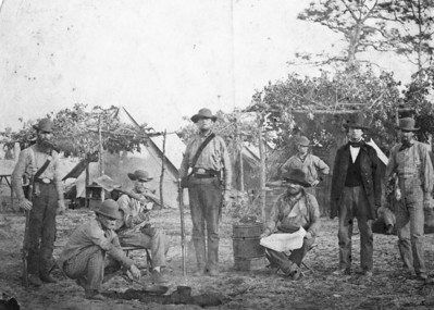 Confederate Infantry camp Florida