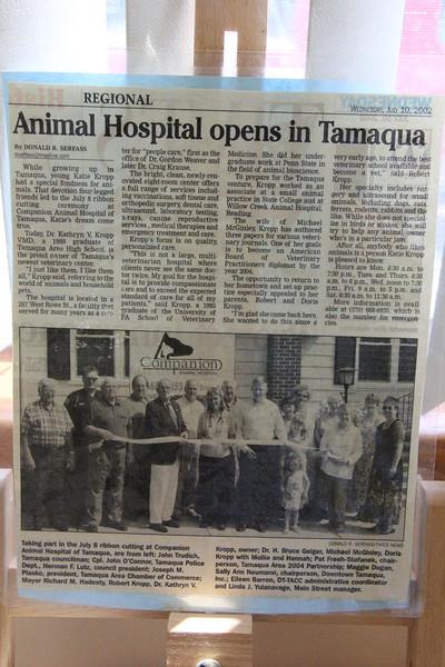 Puppy with Kid and Vet, Companion Animal Hospital, Tamaqua (7-17-2012)