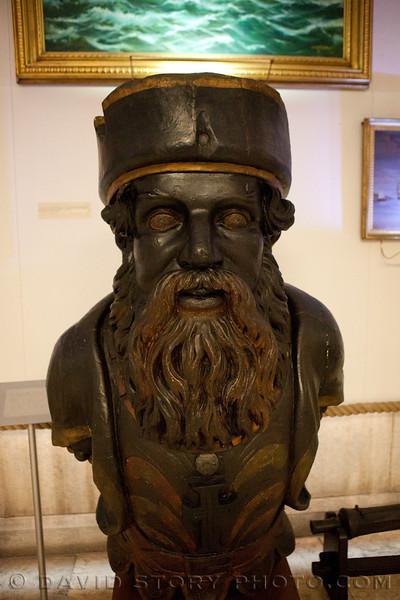 Figurehead from Warship Vasco de Gama. Maritime Museum, Lisbon, Portugal.