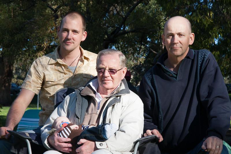 Bill Harris, Bill Harris (Senior), Corbyn Harris, David Harris - Kings Park (Perth), Western Australia