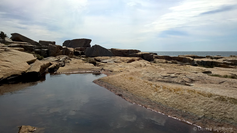 water, rocks, and clouds, on the Schoodic Peninsula