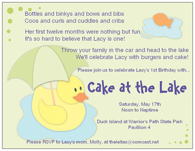 Lacy's 1st Birthday Party