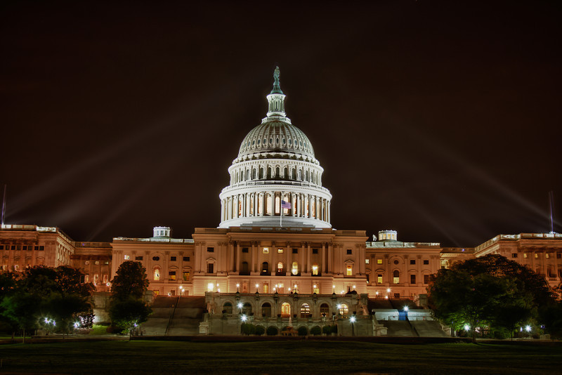Night Shot of the Capitol Building