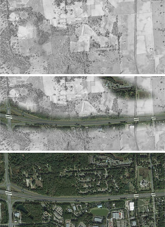 Tallahassee 1949 and 2016 Aerials