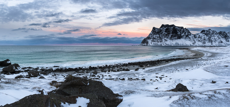 Sunset at Skagsanden Beach Lofoten