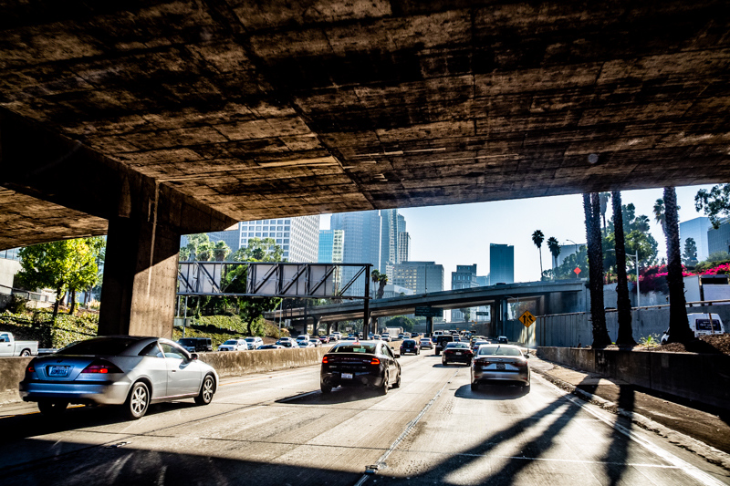 November 4 - DTLA as seen from the 110 going south before rush hour.jpg