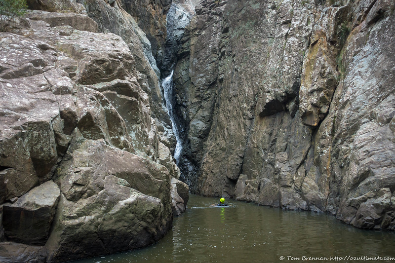 Long swim after the abseil