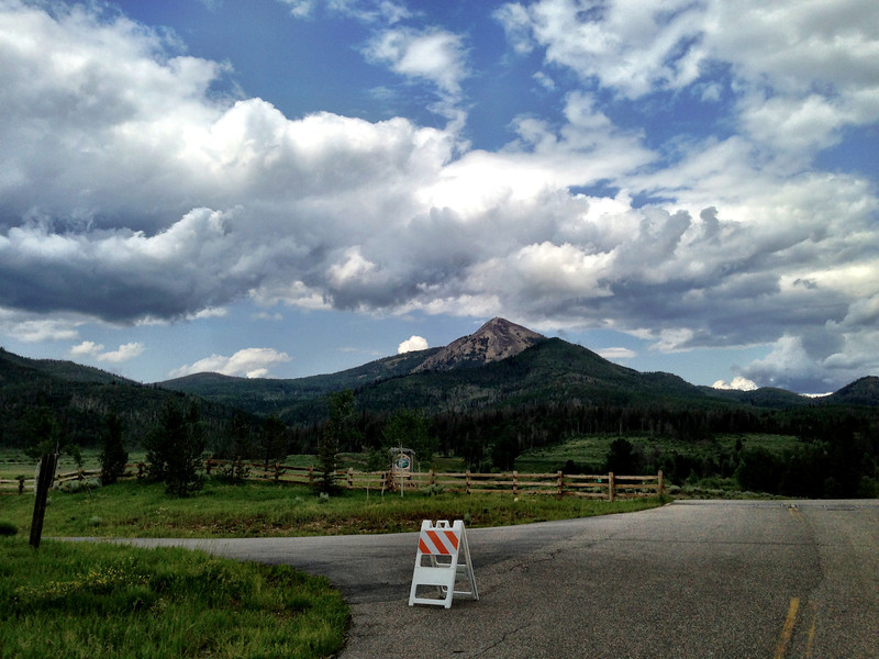 View of summit from Steamboat Lake visitor's center