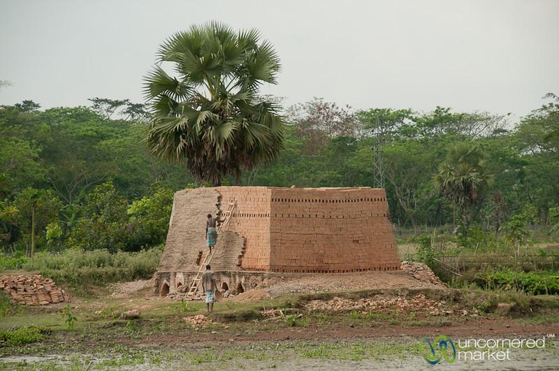 Bricks Baking Near the River - Bangladesh