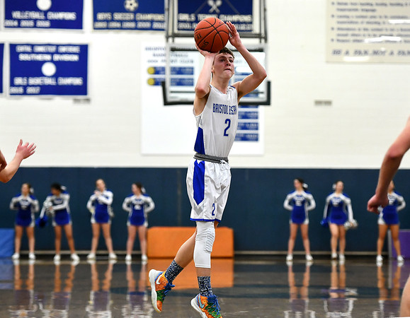 2/18/2020 Mike Orazzi | StaffrBristol Eastern High School's Elijah Parent (2) against Tolland in Bristol on Tuesday night. r