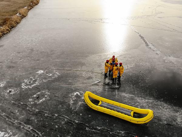2019-12-27 Norfolk Fire&Pierce Fire Ice Rescue Drone Photos
