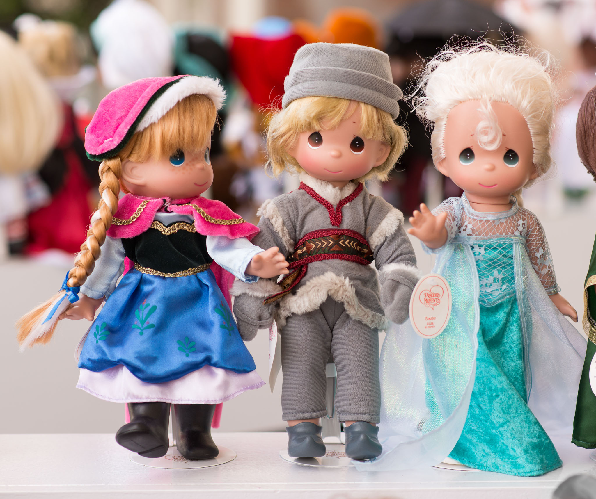 Precious Moments Disney Doll Collection - Anna, Kristoff, and Elsa from Frozen - Epcot Flower & Garden Festival 2016