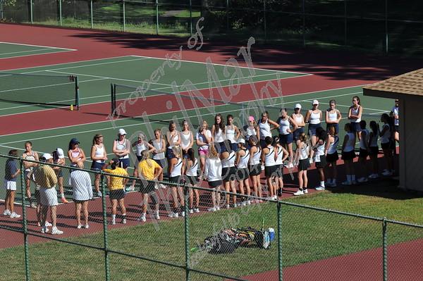 Berks Catholic vs Wyomissing Girls High School Tennis 2015 - 2016