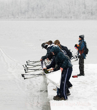 Rowing in April Snow