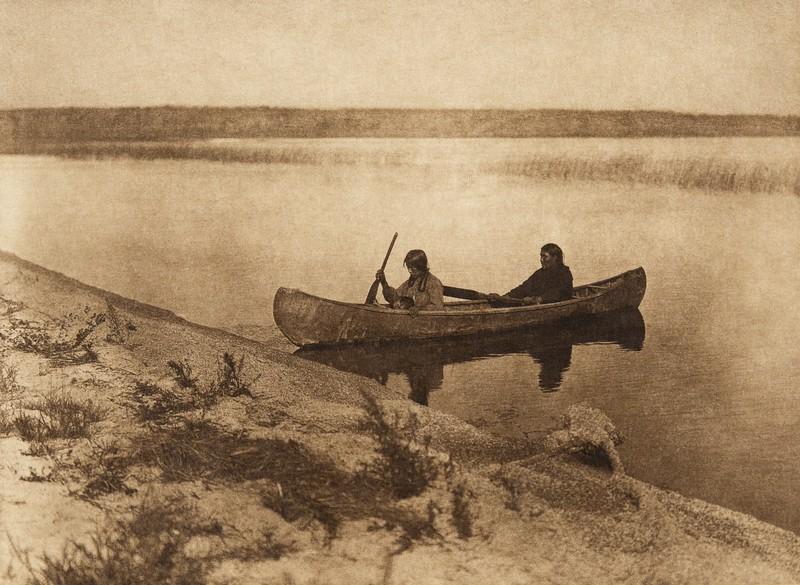 Landing - Cree (The North American Indian, v. XVIII. Norwood, MA, The Plimpton Press,  1928)