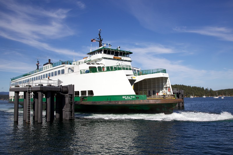 MV Stealth approaching Friday Harbor. Washington State Ferry System.