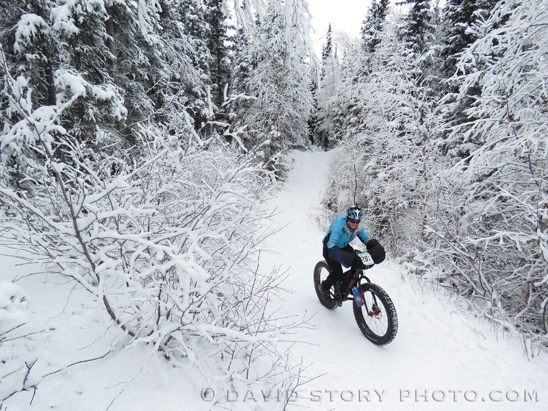 2016 Frosty Bottom Winter Snow Bike Race in Anchorage, AK.