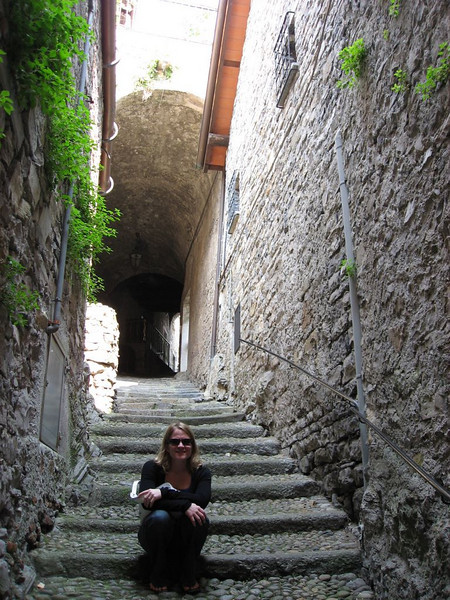 Since Varenna is on a side of a mountain, most of the streets are vertical stairways