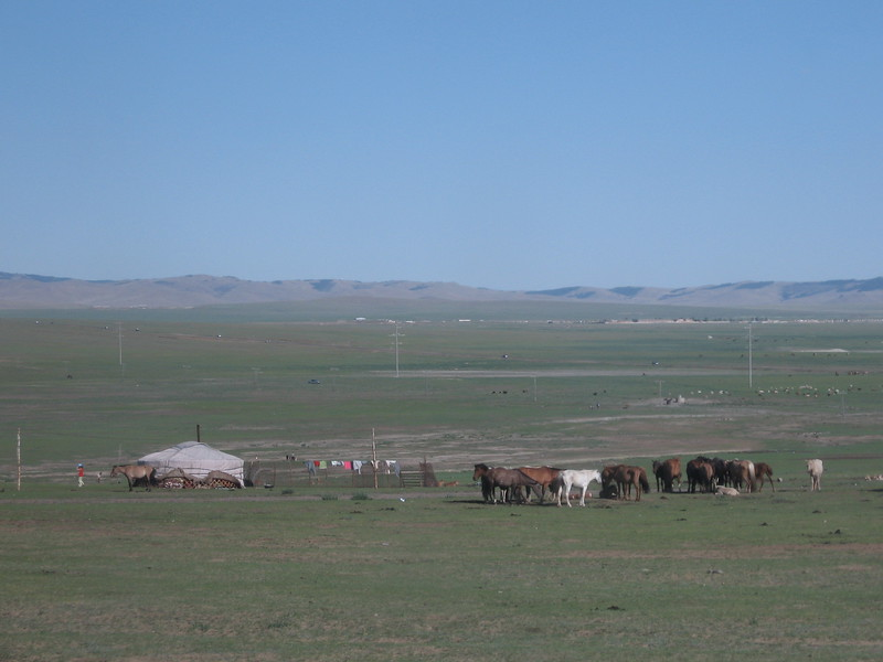 Mongolian view with yurt - Leslie Rowley