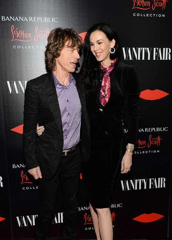 . Singer Mick Jagger and fashion designer L\'Wren Scott attend the launch celebration of the Banana Republic L\'Wren Scott Collection hosted by Banana Republic, L\'Wren Scott and Krista Smith at Chateau Marmont on November 19, 2013 in Los Angeles, California.  (Photo by Michael Kovac/Getty Images for Banana Republic)