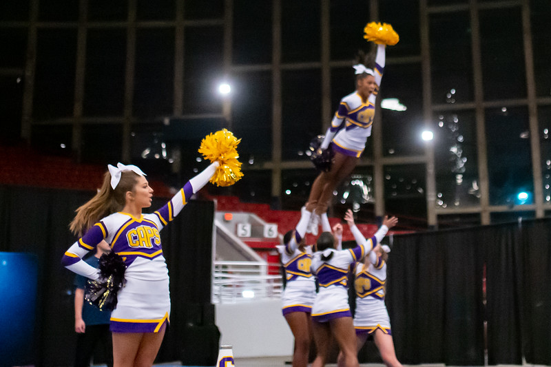 Broughton cheerleading Pre-States. November 16, 2019. D4S_1776