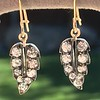 1.85ctw Victorian Leaf Component Earrings 8