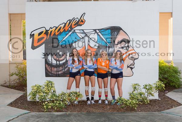 Oak Ridge Pioneers @ Boone Braves Girls Varsity Volleyball - 2013
