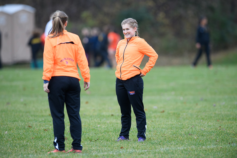 2018 - Macalester College Women Cross Country run at MIAC Conference Meet