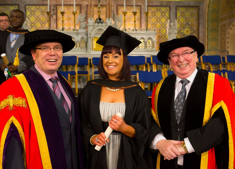 Waterford Institute Of Technology Conferring. Pictured at WIT Waterford Institute Of Technology Conferring is Rebecca Beegan, Waterford who graduated Bachelor of Arts (Honours) in Social Care. Also pictured are Dr. Ruaidhrí Neavyn, President WIT and Dr Donnie Ormonde Chairman WIT. Picture: Patrick Browne