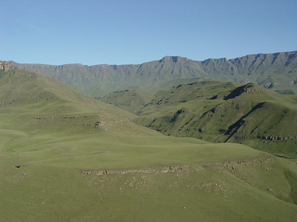 Microlight over Drakensberg