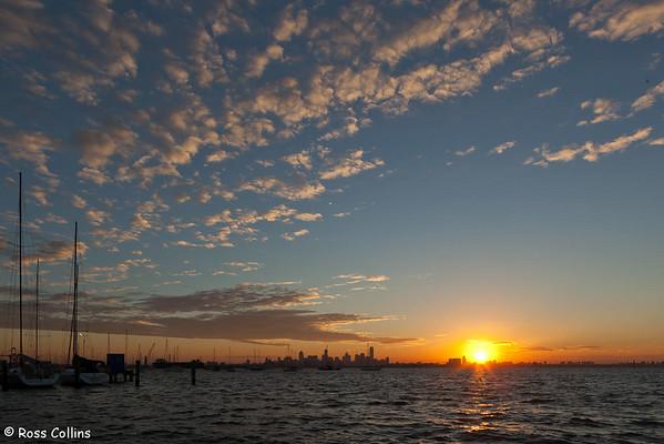 Melbourne Skyline at Sunrise 2011
