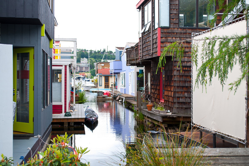 More floating homes.