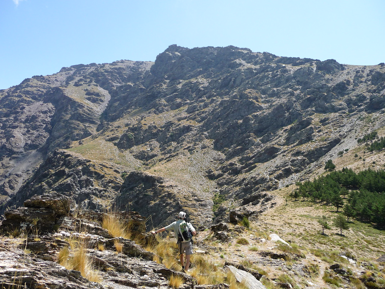 Assessing the ascent to Pena de los Papos 2533 metres