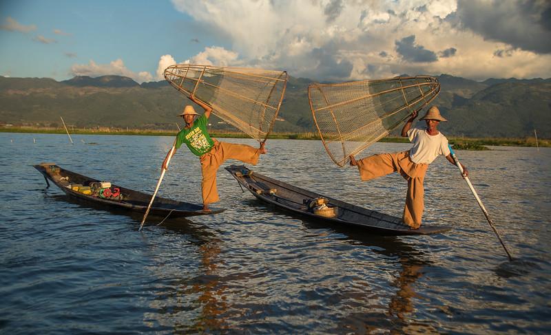 Fishermen on Inle Lake, central Myanmar.