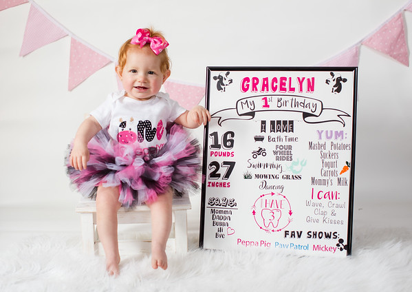 Gracelyn is 1!