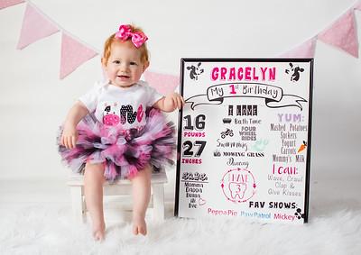 Gracelyn is 1!