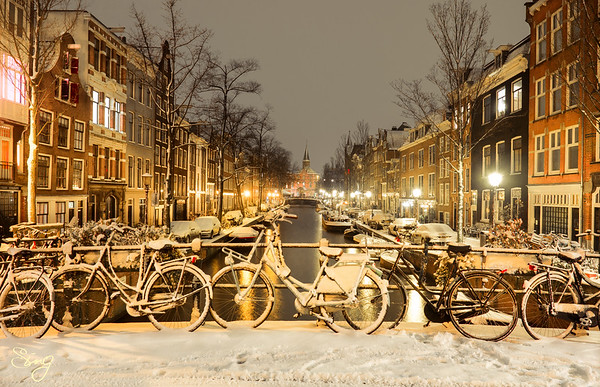 It Never Really Feels Like Winter Until It Starts Snowing. Amsterdam, the Netherlands