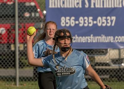 Hannah Savannah and Emily Salem Softball All Stars