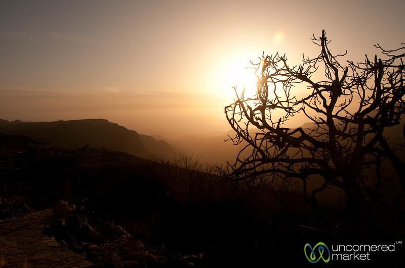 Sunset over Dana Valley - Jordan